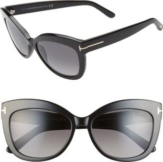 Tom Ford Alistair 56mm Polarized Cat Eye Sunglasses