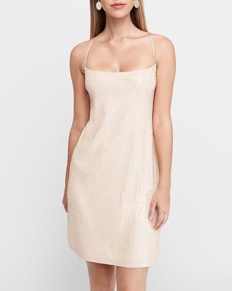 Express Sequin Cami Slip Dress