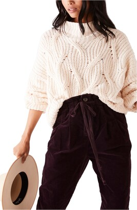 Free People Seasons Change Funnel Neck Sweater