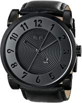 Vestal Men's DOP003 Doppler Oversized Matte Ion-Plated Case Leather Watch