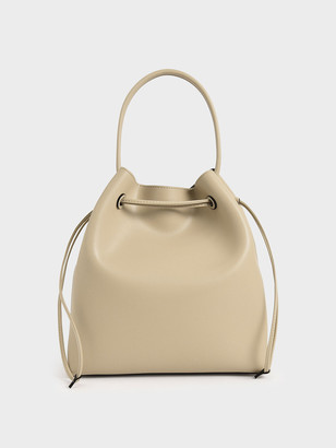 Charles & Keith Drawstring Hobo Bag