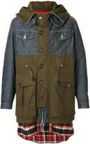 DSQUARED2 multimedia hooded coat