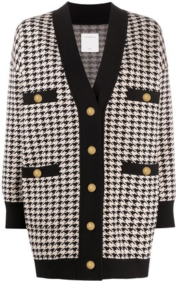 Sandro Houndstooth Cardigan