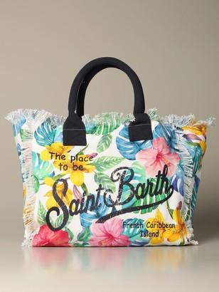 MC2 Saint Barth Vanity Shopping Bag In Canvas With Paradise Print
