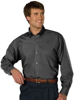 Edwards Garment Men's Big And Tall Easy Care Poplin Shirt_STEELE GREY_3XL