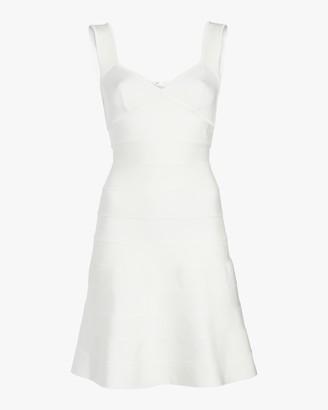 Herve Leger Icon Flare Skirt Dress