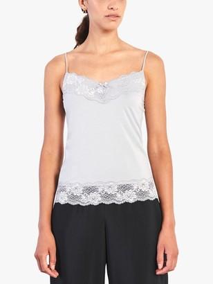 Jigsaw Modal Lace Trim Vest