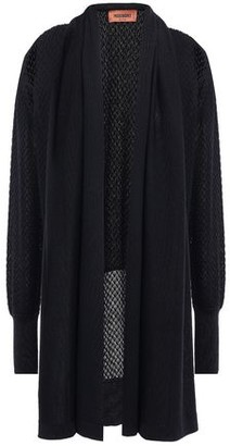 Missoni Draped Crochet-knit Wool-blend Cardigan