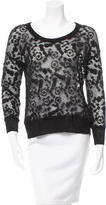 See by Chloe Pattern Scoop Neck Sweater