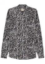 Marni Monochrome Swirl-print Cotton Shirt