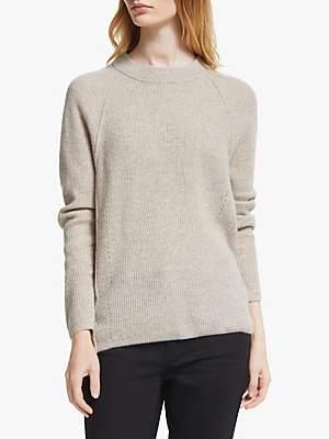 John Lewis & Partners Cashmere Crew Neck Rib Sweater