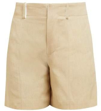 Chloé High Rise Twill Print Shorts - Womens - Beige