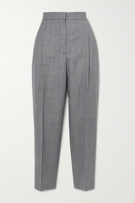 Alexander McQueen Prince Of Wales Checked Wool And Cashmere-blend Tapered Pants - Gray