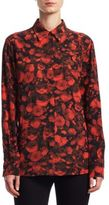 Givenchy Floral Silk Blouse