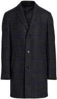 Saks Fifth Avenue Plaid Wool Top Coat