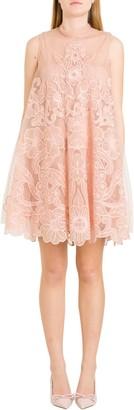 RED Valentino Point Desprit Mini Dress