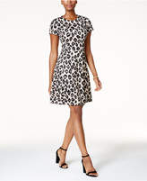 Jessica Howard Petite Animal-Print Fit & Flare Dress