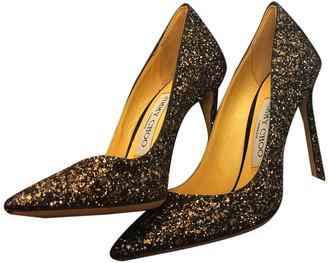Jimmy Choo Romy Metallic Glitter Heels