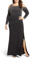 Xscape Evenings Embellished Stretch Gown (Plus Size)