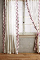 Anthropologie Chevron-Trimmed Curtain