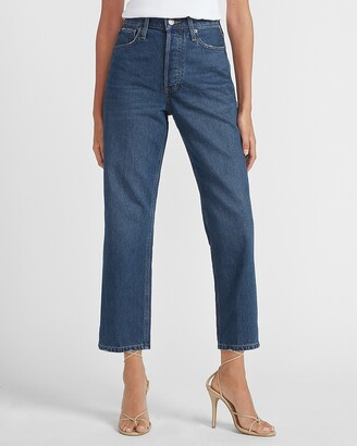 Express High Waisted Original Cropped Dad Jeans