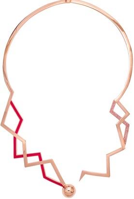 Cristina Cipolli Jewellery Snaketric Edgy Choker Pink