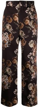 Junya Watanabe Wide Leg Floral Pants