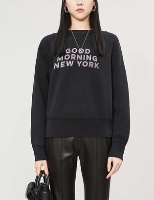 Nili Lotan Good Morning New York cotton-jersey sweatshirt
