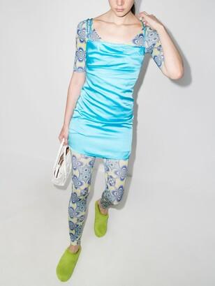 MAISIE WILEN Blue Altered State Printed Bodysuit
