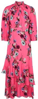 Erdem Verona pink floral-print midi dress