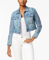 Calvin Klein Jeans Embroidered Cropped Denim Jacket