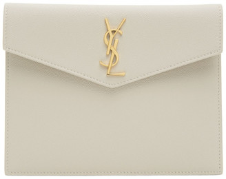Saint Laurent Off-White Uptown Baby Pouch