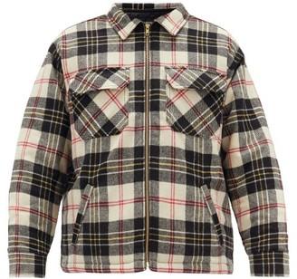 Noon Goons Crowd Checked Wool Jacket - Mens - Brown Multi