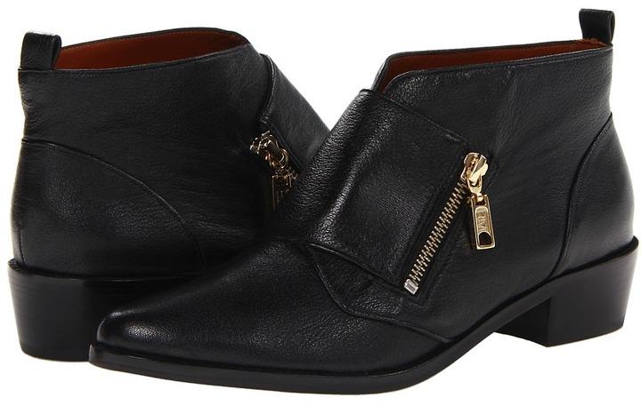 Rebecca Minkoff Saachi (Black Washed Goat) - Footwear