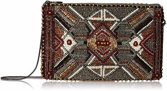 Mary Frances Symmetry Beaded Metallic Crossbody Phone Bag