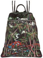 Dolce & Gabbana Jungle Print Drawstring Backpack