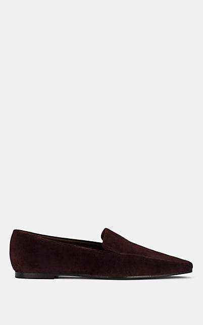 The Row Women's Minimal Suede Loafers - Hickory