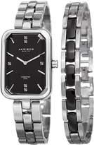 Akribos XXIV Women's Quartz Stainless Steel Casual Watch, Color:Silver-Toned (Model: AK995SSB)