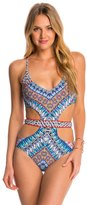 Red Carter Navajo Dream Plunge Monokini Swimsuit 8145703