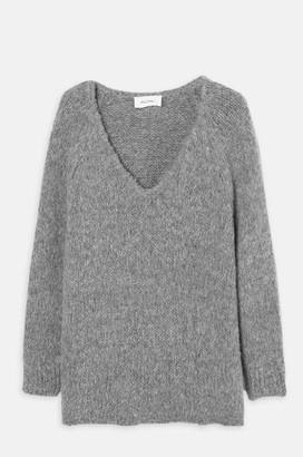 American Vintage Tudbury V Sweater H Grey - One Size
