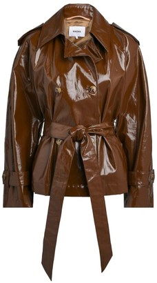 Nanushka Biel Vinyl Short Trench Coat