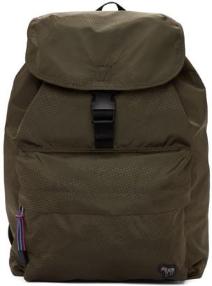 Paul Smith Green Nylon Zebra Backpack