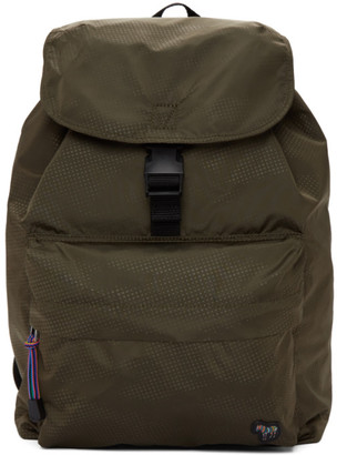 Paul Smith Green Nylon Zebra Backpack