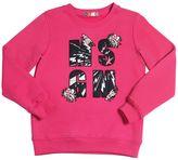 MSGM Logo Patches Cotton Sweatshirt