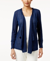 Style&Co. Style & Co Style & Co Petite Drape-Front Cozy Knit Cardigan, Created for Macy's