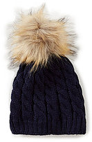 Starting Out Faux-Fur Pom Beanie Hat