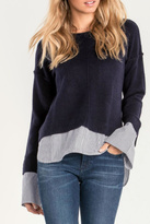 Miss Me Blue Layered Sweater