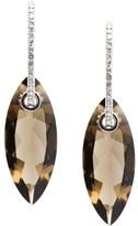 Tresor Gemstones with Diamond Huggies Earrings