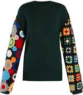 J.W.Anderson Crochet-sleeved wool sweater