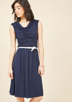 ModCloth Bayside Vacay Jersey Dress in Navy in XL